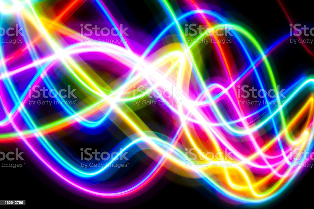 speed of colorful LED lights stock photo