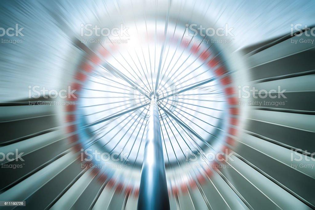 Speed of futuristic elevator stock photo