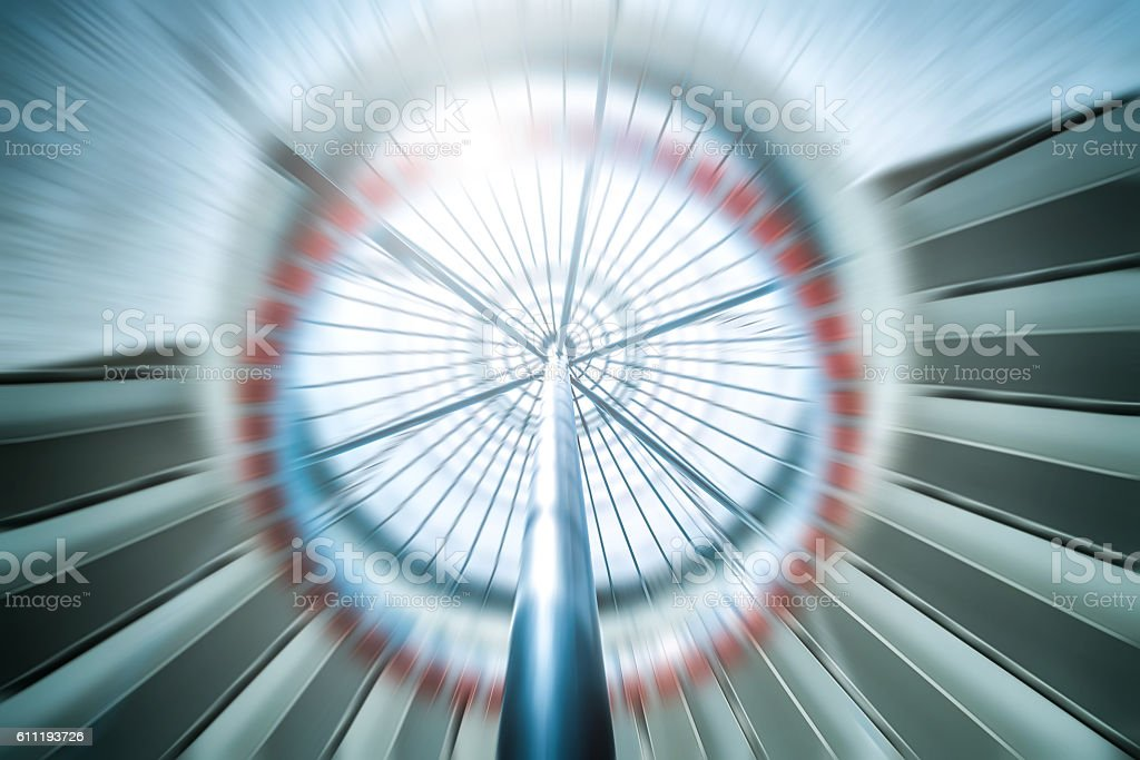 Speed of futuristic elevator stock photo