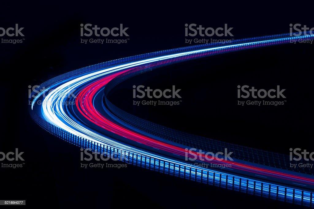 Speed of light. Transportation. Energy. Information stock photo