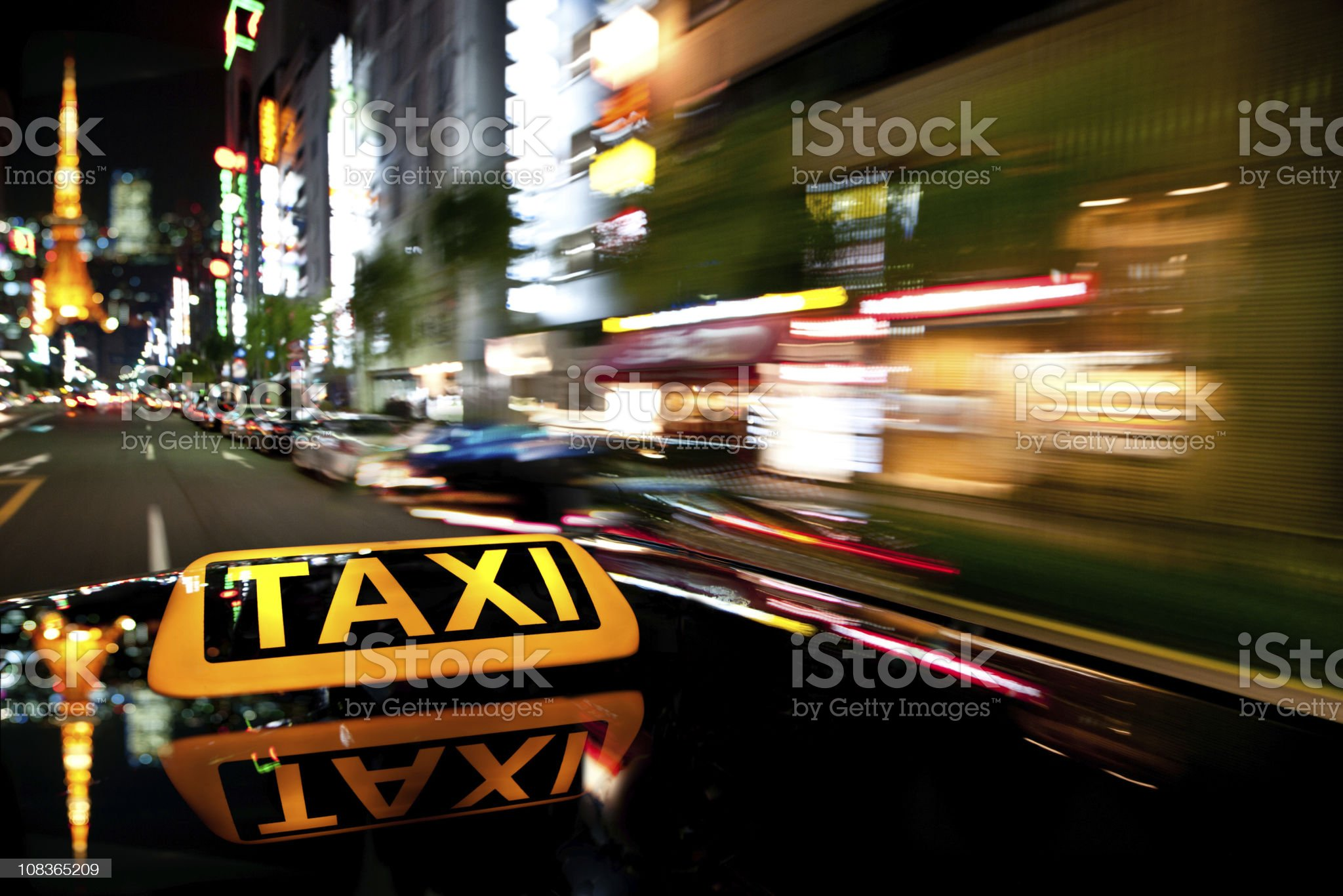 speed of the night royalty-free stock photo