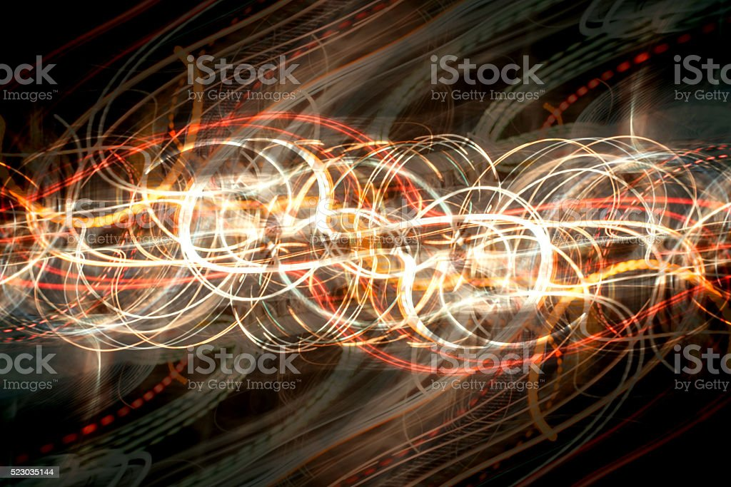 speed on night road abstract background stock photo