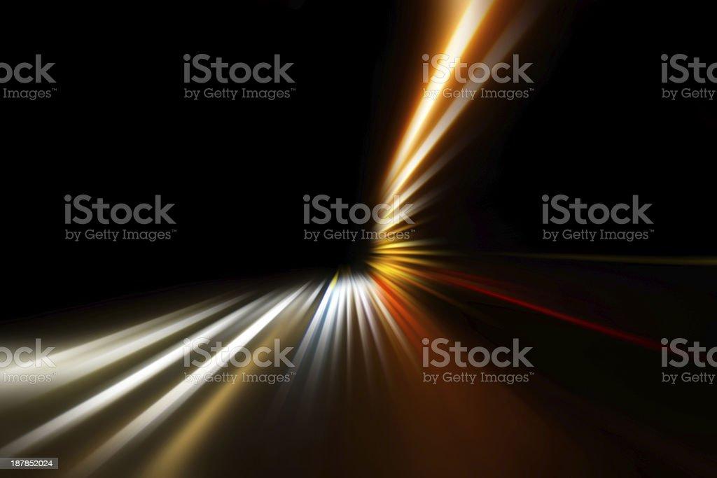 speed on night road stock photo