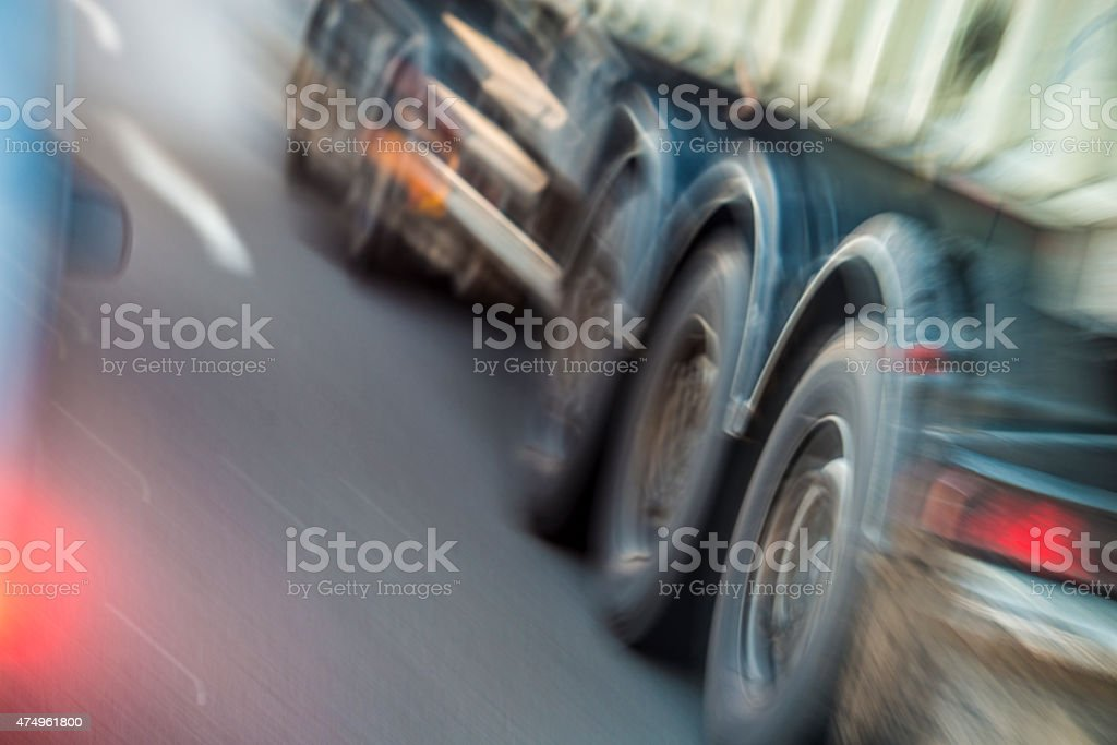 Speed on the Road stock photo
