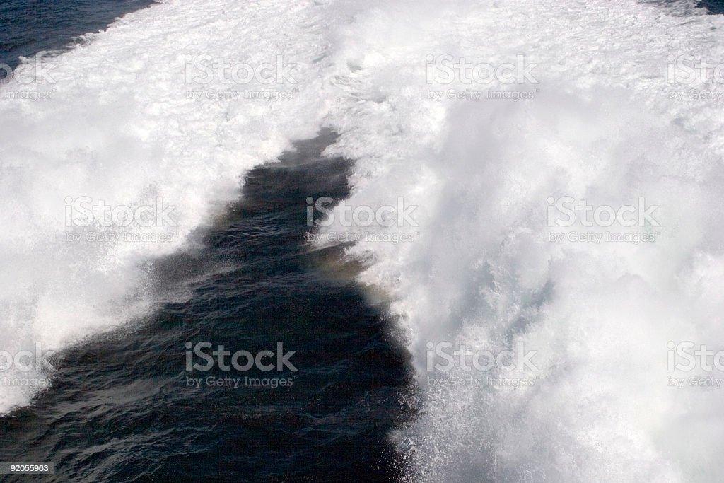 Speed on water stock photo