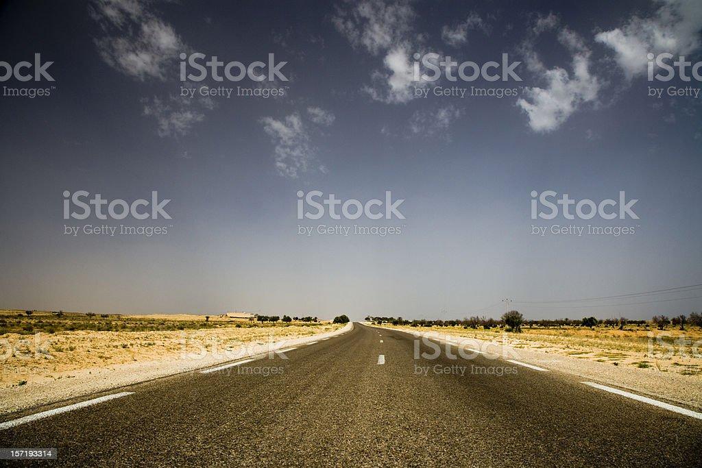 speed open road desert highway royalty-free stock photo