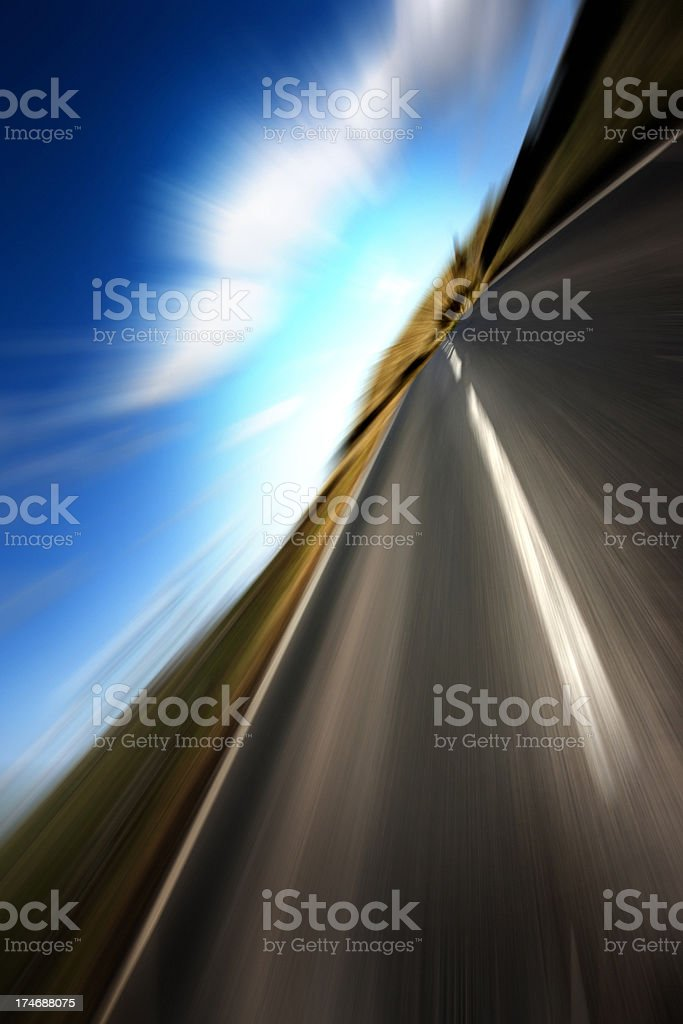 Speed Open Road royalty-free stock photo