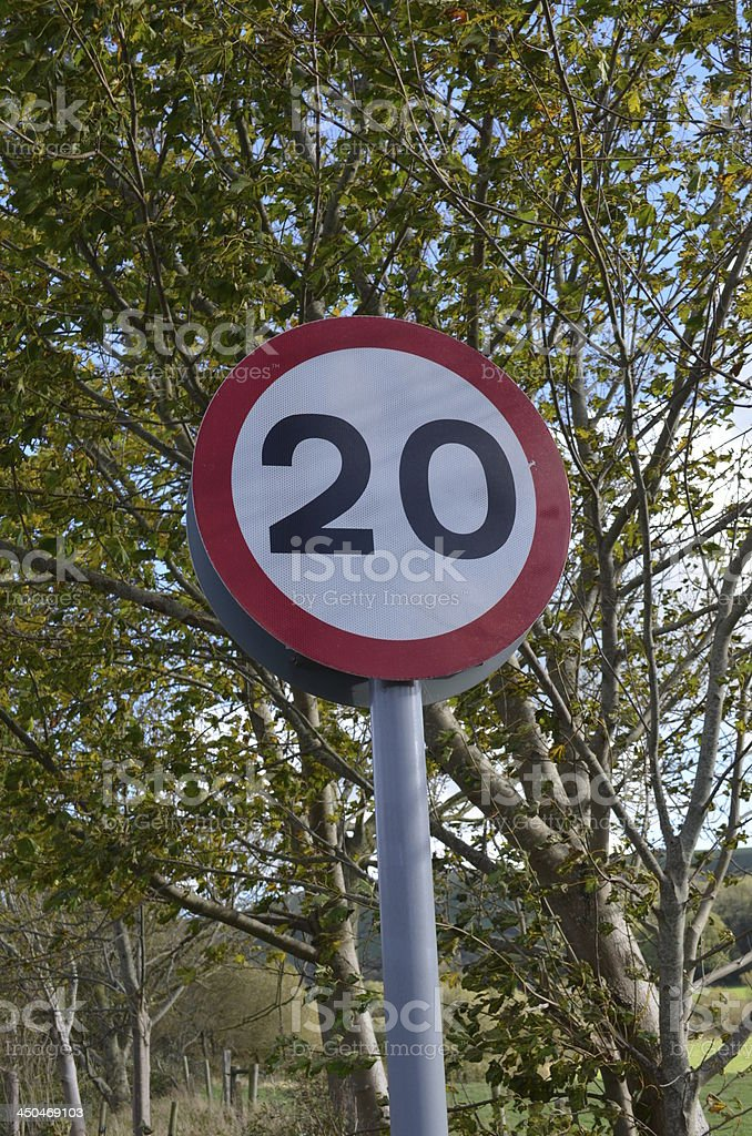 Speed Restriction Sign royalty-free stock photo