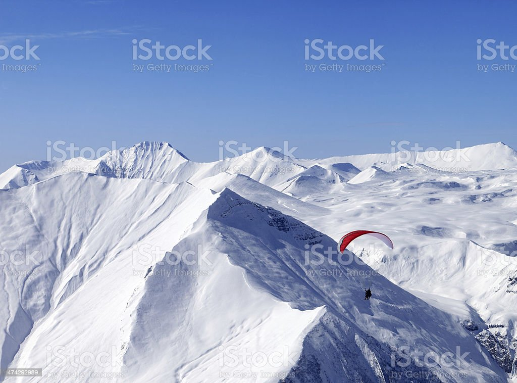 Speed riding in Caucasus Mountains royalty-free stock photo