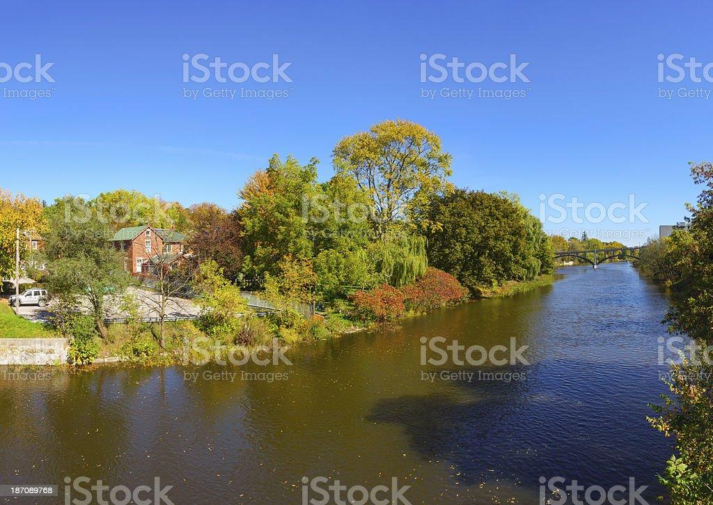 Speed River, Guelph, Ontario, Canada stock photo