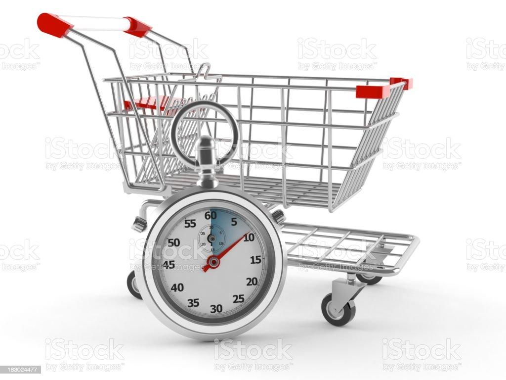Speed shopping royalty-free stock photo