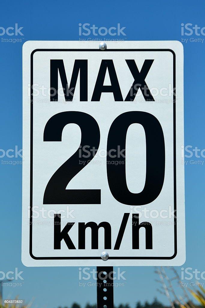 Speed sign stock photo