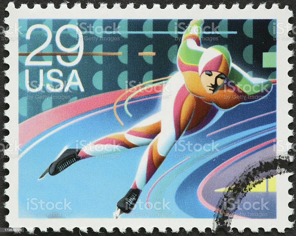 speed skater royalty-free stock photo