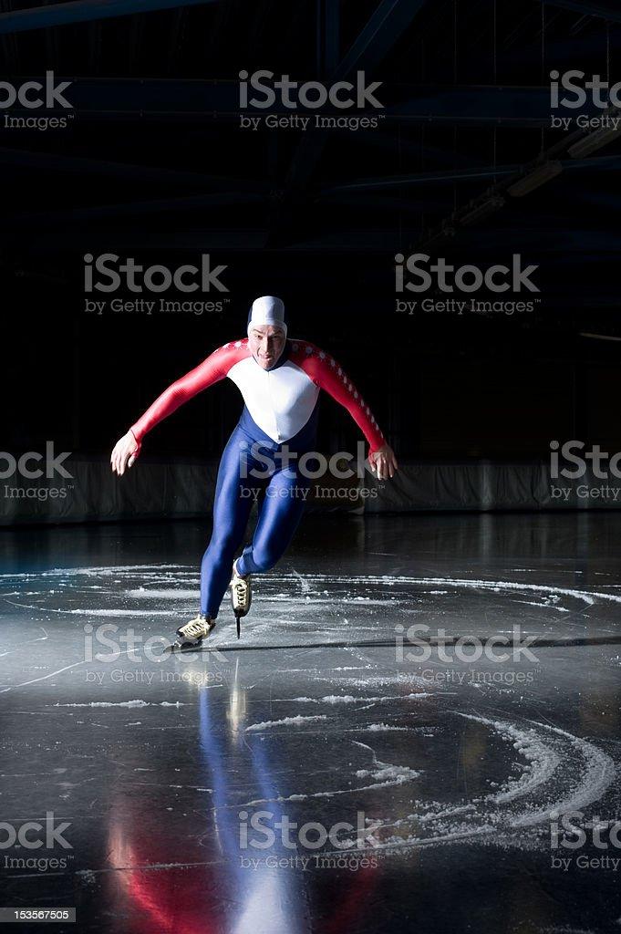 Speed skater start royalty-free stock photo