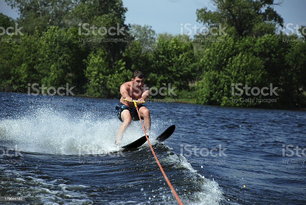 speed skating on the river royalty-free stock photo