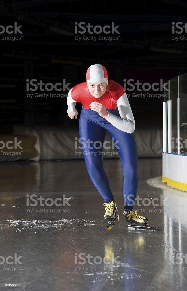 Speed skating start royalty-free stock photo