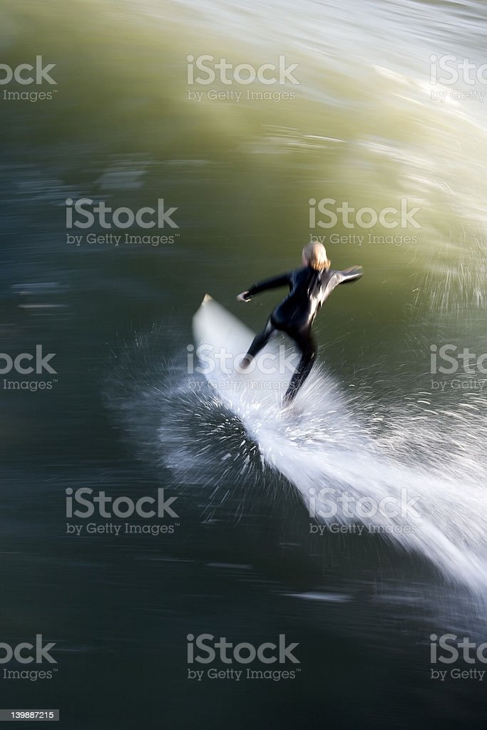 Speed Surfer royalty-free stock photo