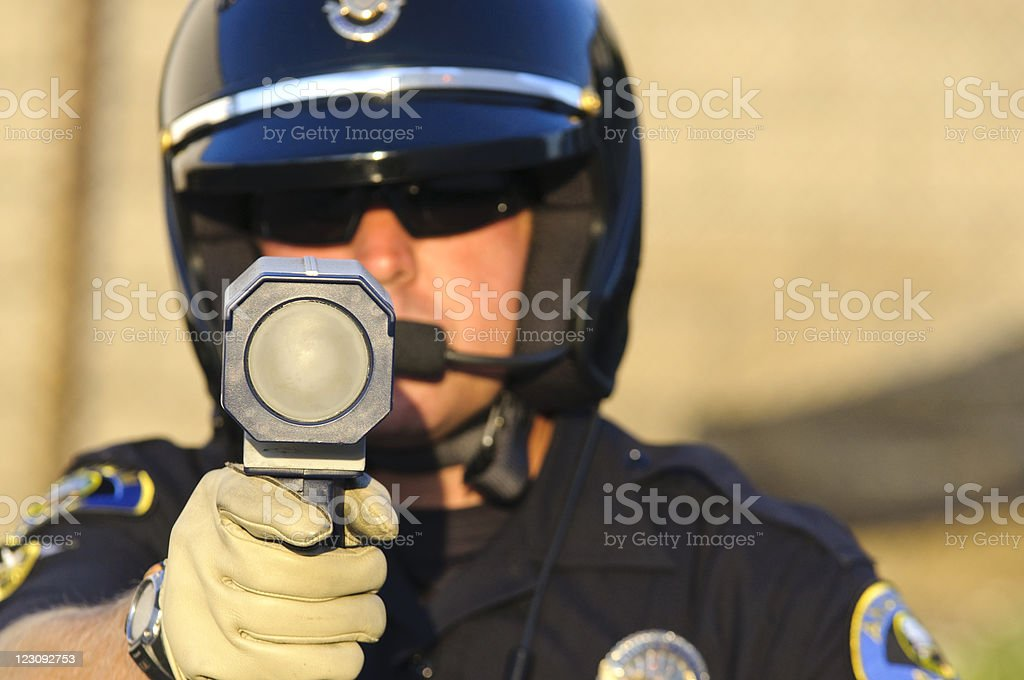 speed trap stock photo