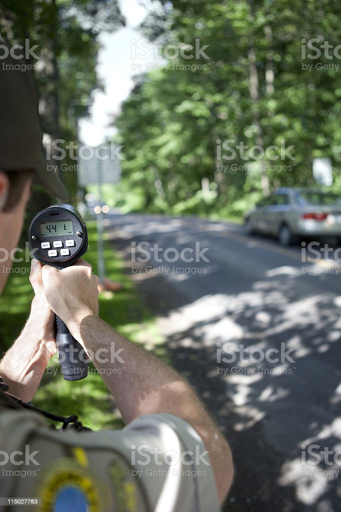 Speed Trap Police Radar stock photo