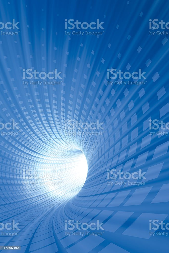 Speed Tunnel Vertical royalty-free stock photo
