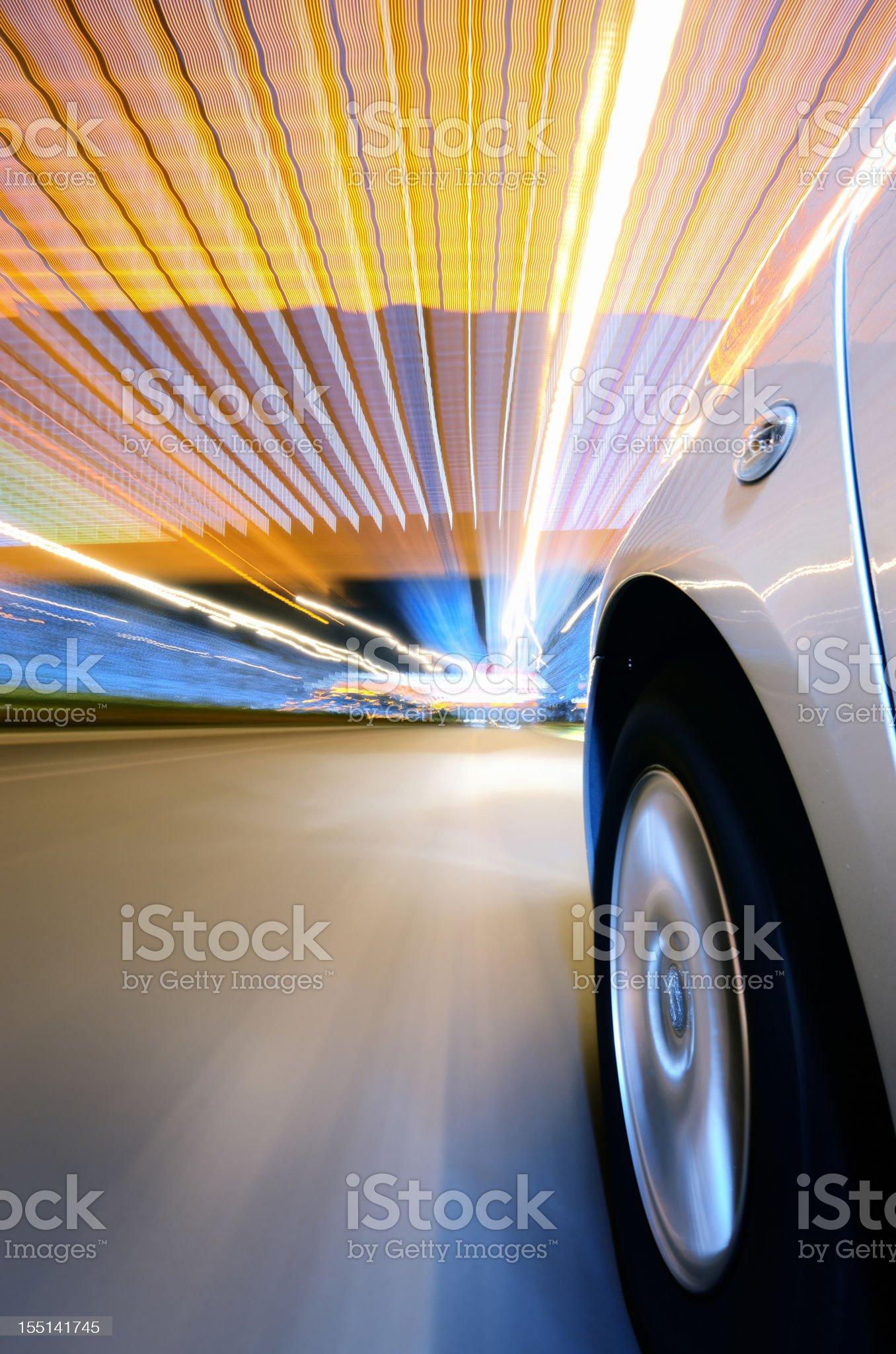 Speed Turn royalty-free stock photo