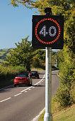 Speed Warning Radar Sign 40 MPH