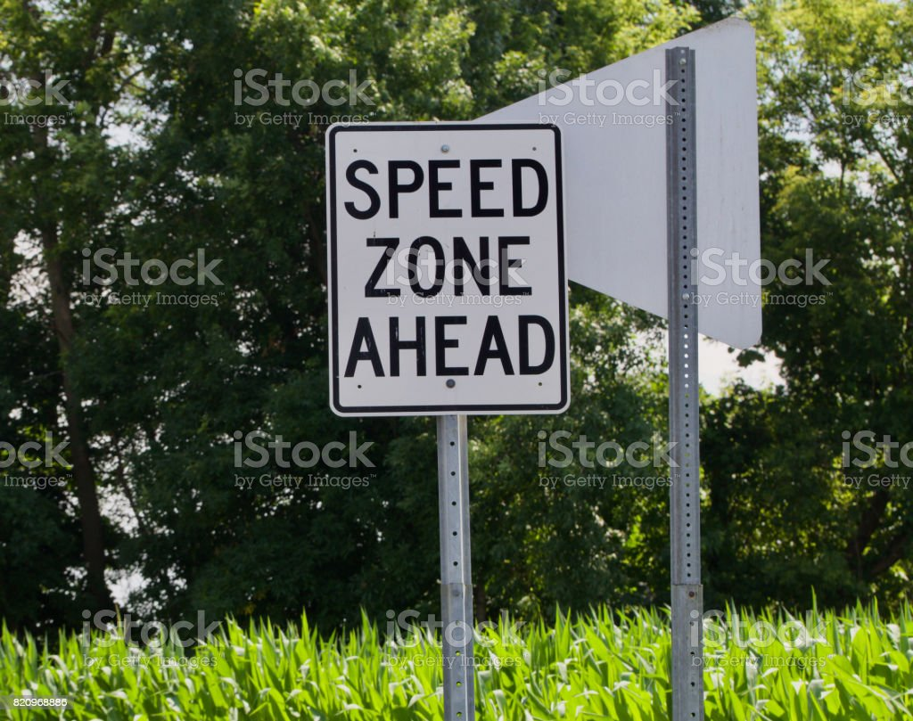 Speed Zone Horizontal stock photo