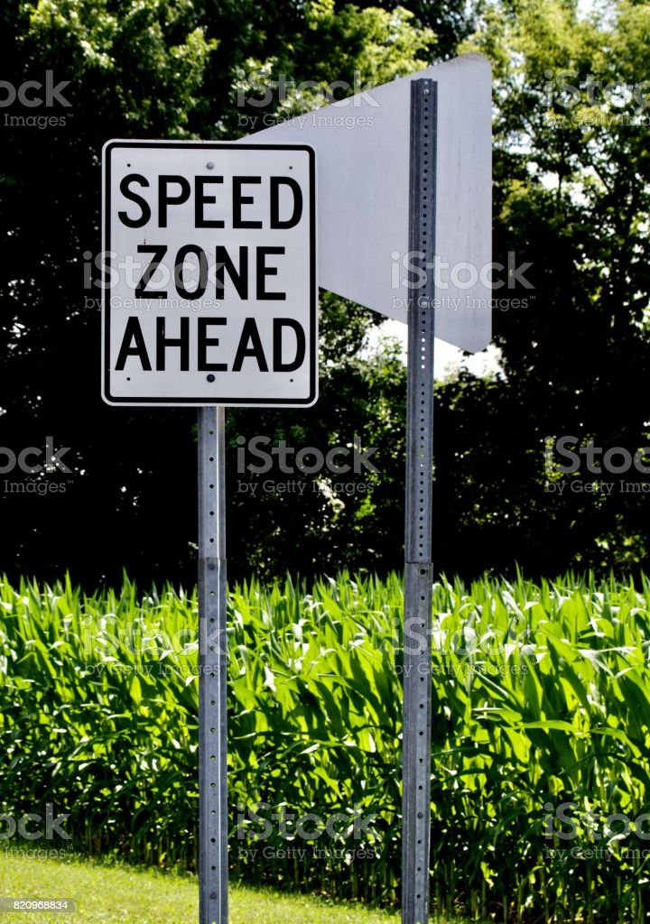 Speed Zone Sign stock photo