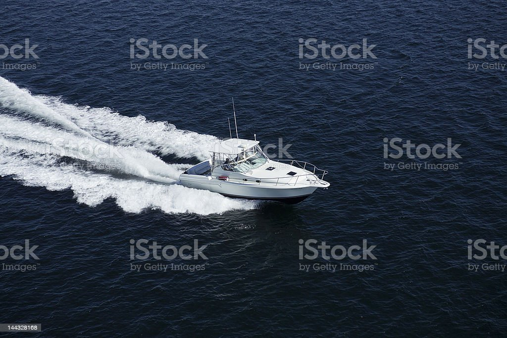 Speedboat Aerial Photograph royalty-free stock photo