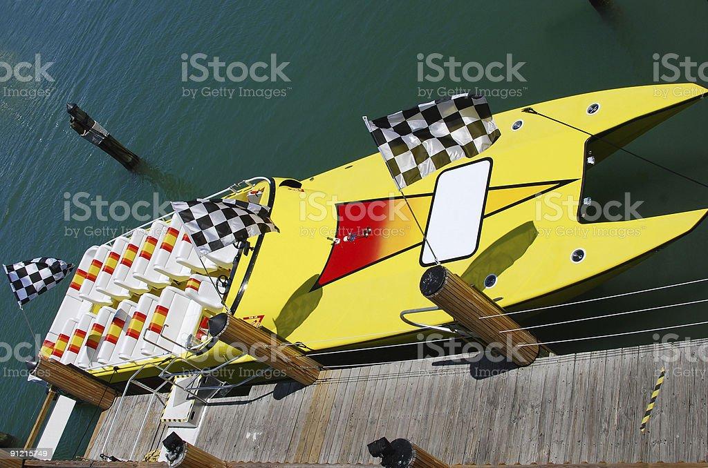 Speedboat awaiting passengers royalty-free stock photo