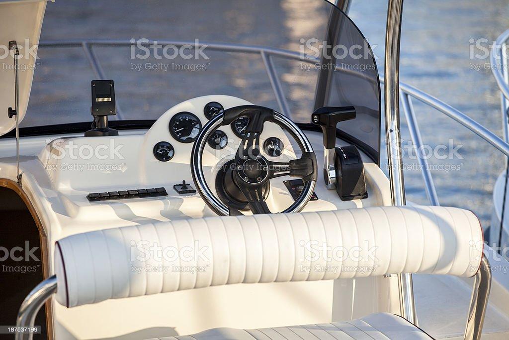 Speedboat cockpit royalty-free stock photo