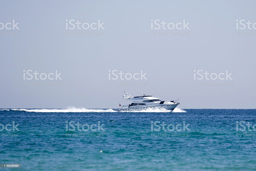 speedboat on the race royalty-free stock photo