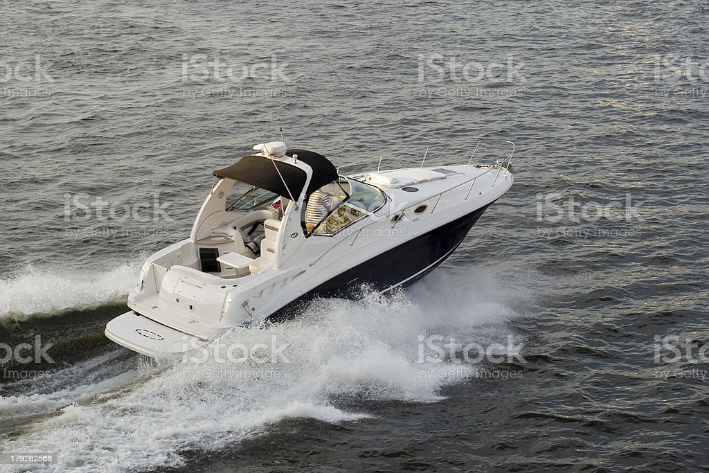 Speed-boat royalty-free stock photo