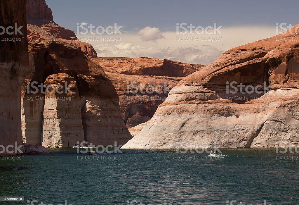 Speedboats on Lake Powell stock photo