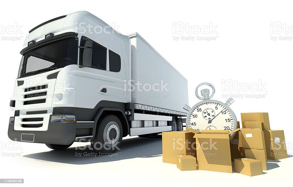 Speediest transportation service royalty-free stock photo