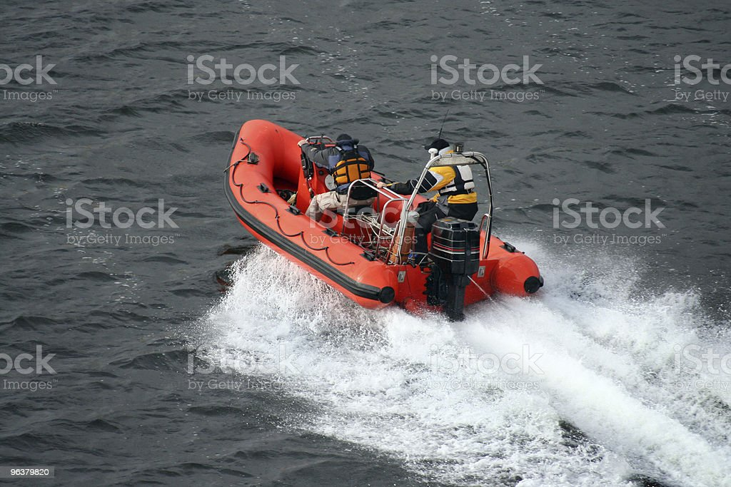 Speeding across the water royalty-free stock photo