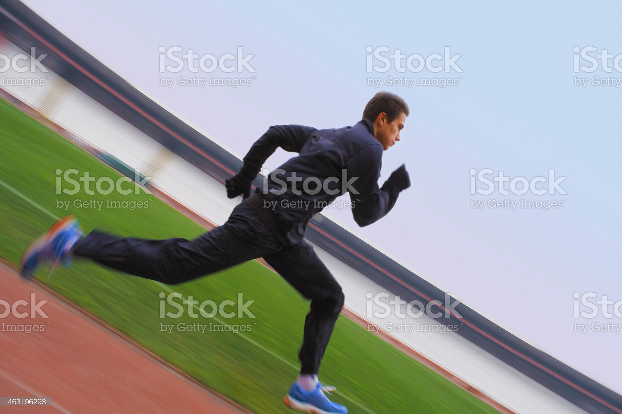 Speeding Athlete royalty-free stock photo