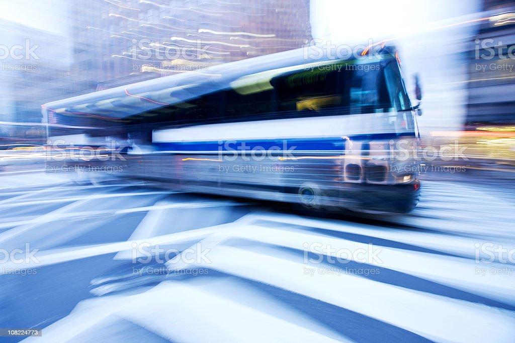 Speeding Bus royalty-free stock photo