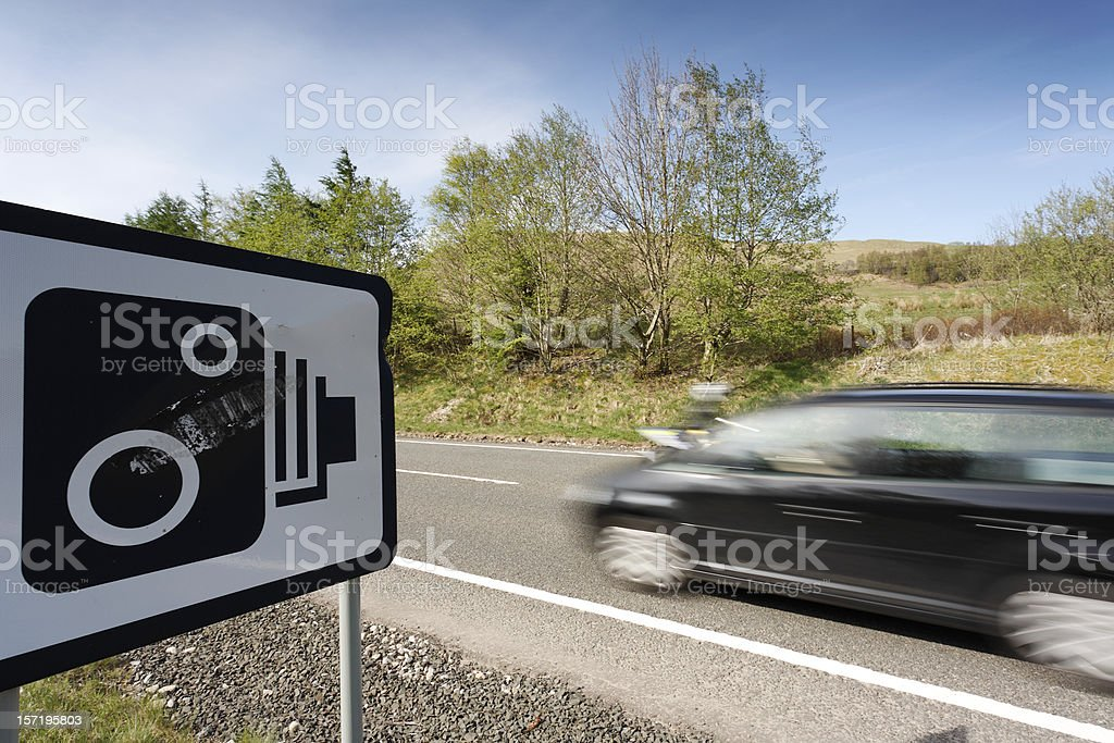 Speeding car 2 stock photo