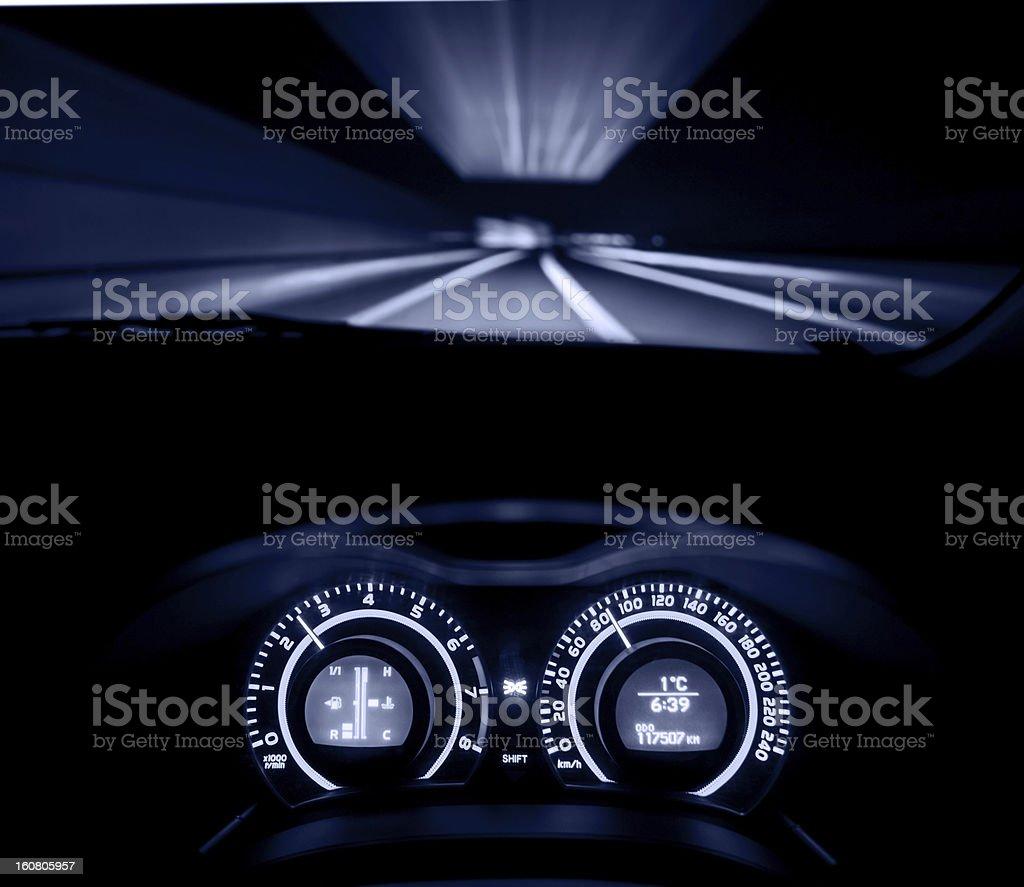 speeding car  dashboard royalty-free stock photo