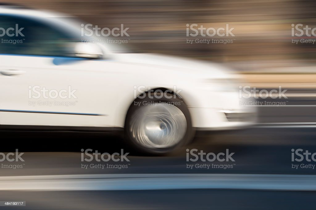 Speeding Car in Blurred Motion royalty-free stock photo