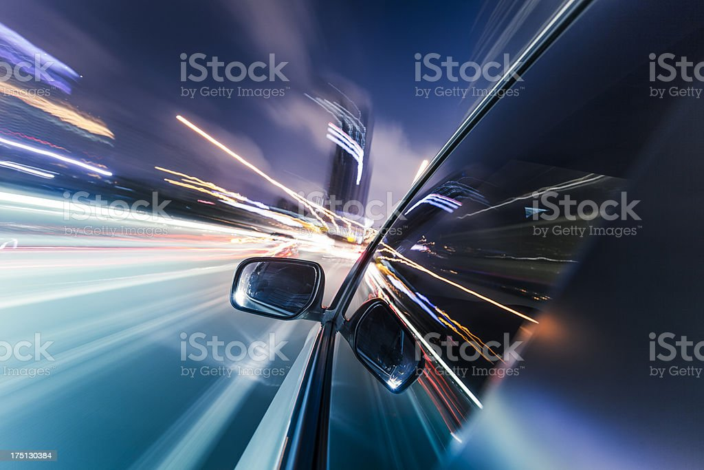 speeding car stock photo