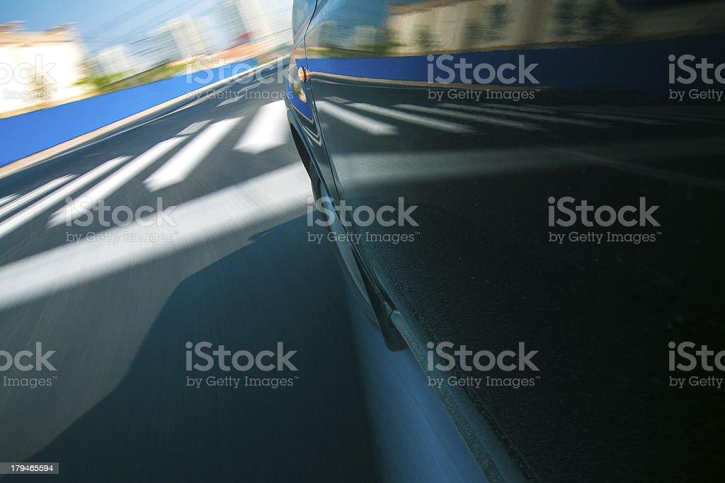 Speeding Car royalty-free stock photo