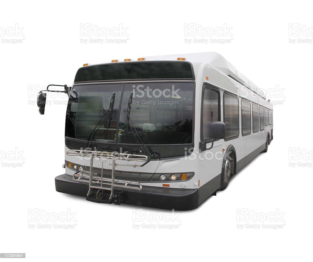 Speeding City Bus royalty-free stock photo