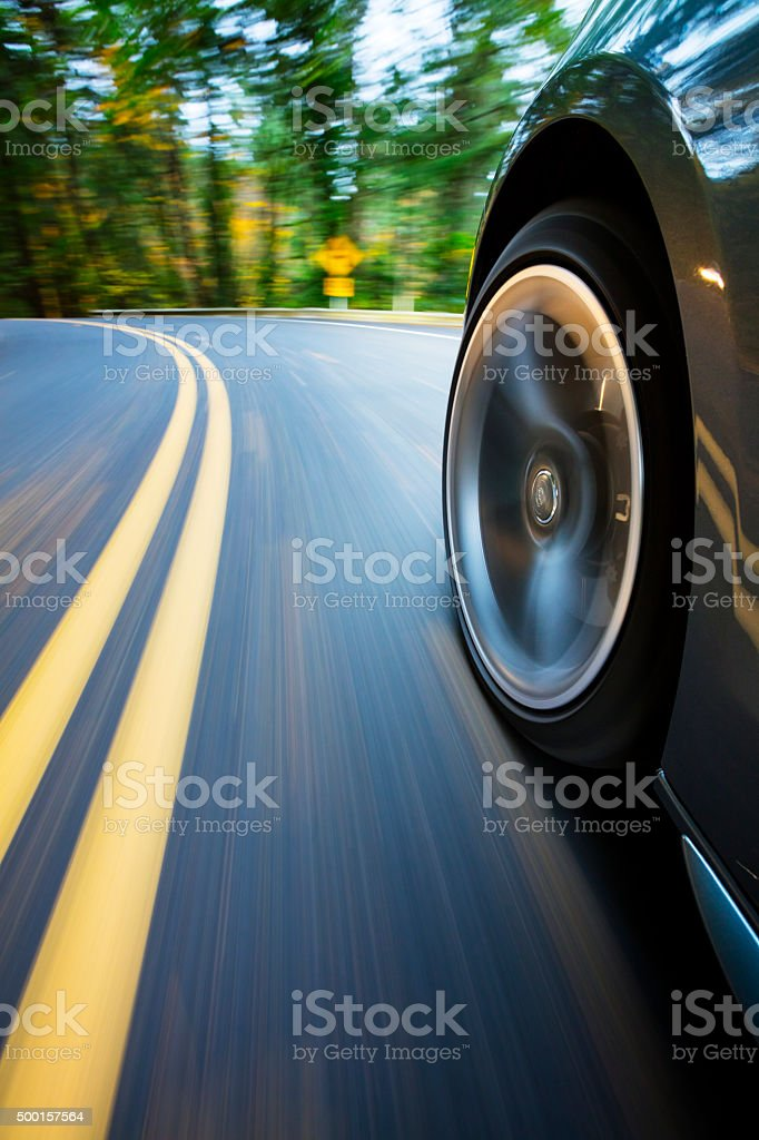 Speeding Corner. stock photo
