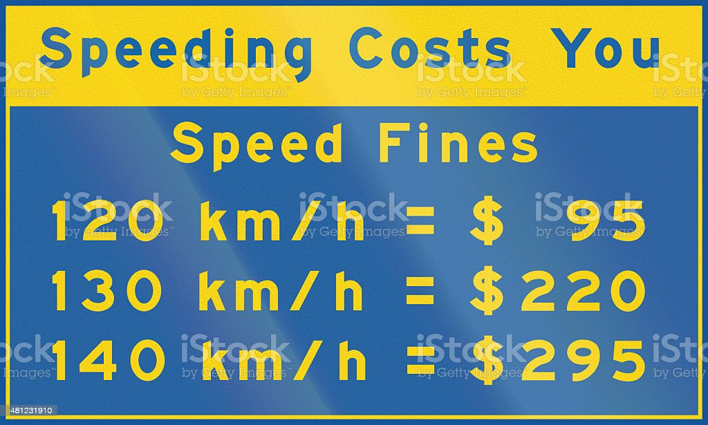 Speeding Costs You In Canada stock photo