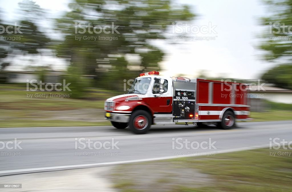 Speeding Firetruck stock photo