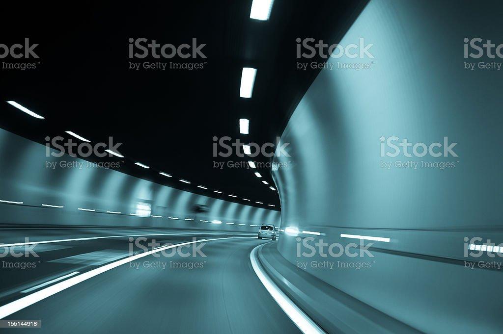 Speeding in the Tunnel stock photo