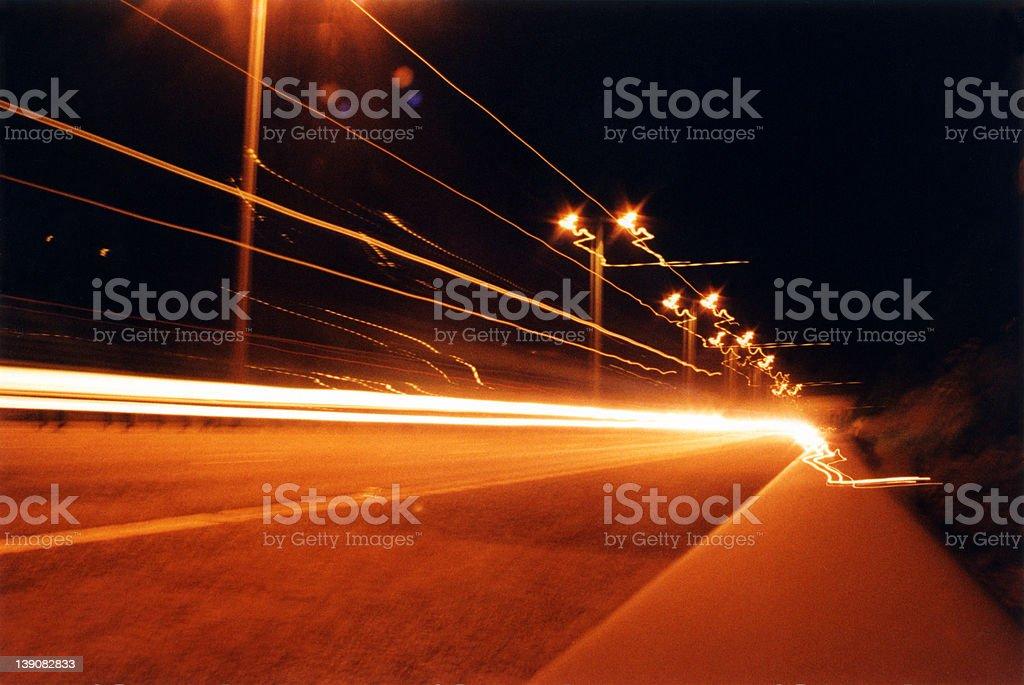 M25 Speeding lights 2 royalty-free stock photo