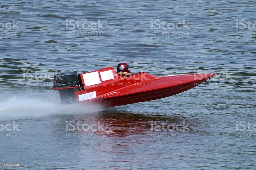 Speeding motorboat royalty-free stock photo